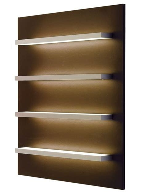 lighted retail shelves store interiors