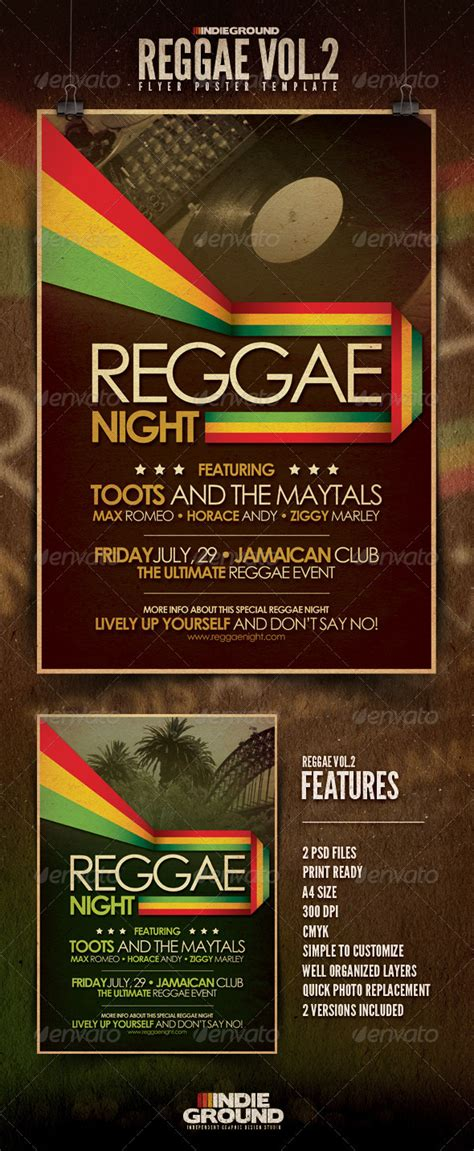 template flyer reggae 10 templates to make super cool reggae covers flyers