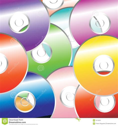 Cd Seamless Flower 3d dvd color pattern stock image image 1974231