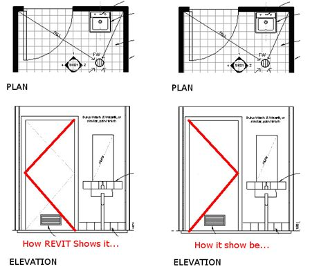 Architectural Symbols Floor Plan by Revitcity Com Revit 2014 Door Elevations Swing Lines