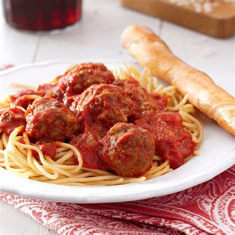 best spaghetti and meatballs recipe taste of home
