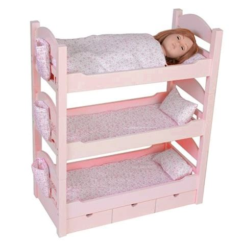 American Girl Doll Loft Bed Bunk Beds Trundle Sleeps Dolls American Doll Beds For Cheap