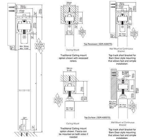 Sliding Door Hardware   TOP RECESSED MOUNTED SLIDING DOOR