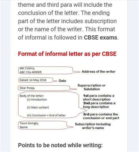 write  informal letter    board exams quora