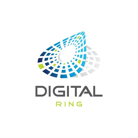 logo design digital digital ring logo design logo cowboy