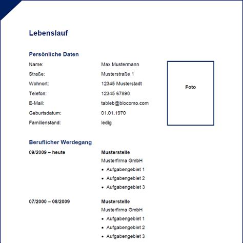 Moderner Lebenslauf Vorlage 2014 Modern Blue Cv With Border Moderne Lebenslauf Vorlage Mit Blauem Rahmen Lebenslauf Muster