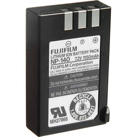Battery Fuji Np 140 Finepix fujifilm np 140 rechargeable lithium ion battery 15772763 b h