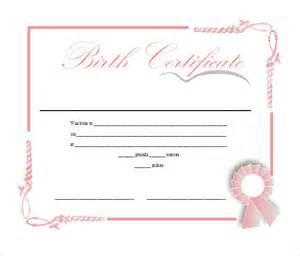 birth certificate templates for word sle birth certificate 11 free documents in word pdf