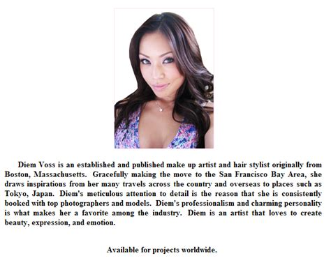Makeup Artist Biography | makeup artist bio templates makeup vidalondon