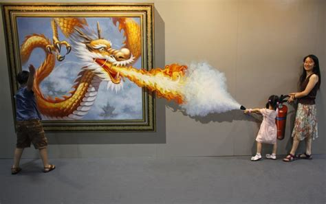 interactive painting 3d exhibition in china delights visitors photos