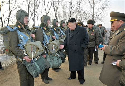 north korea kim jong un inspects north korean army unit photos