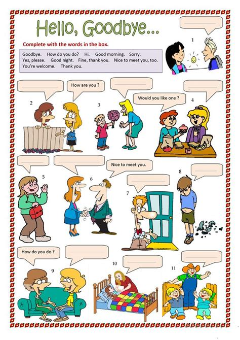 kid how i learned to say goodbye books 217 free esl greetings worksheets