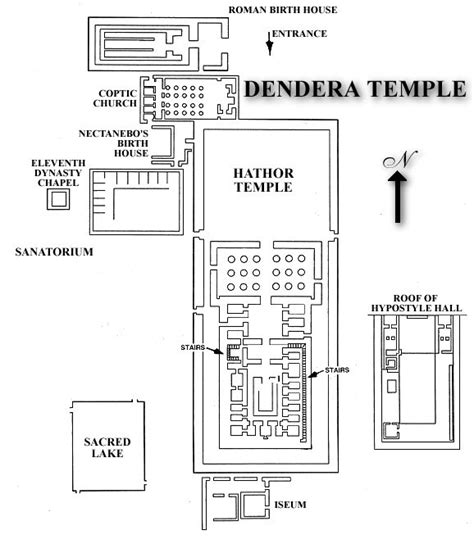 temple floor plan denderafloorplan gif ancient egyptian temples floor
