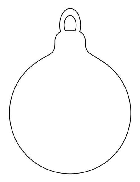 christmas ornament outlines printable ornament pattern use the printable outline for crafts creating stencils