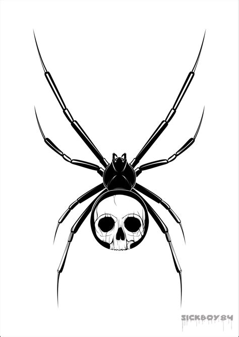 tattoo skull png spider tattoos and designs page 29