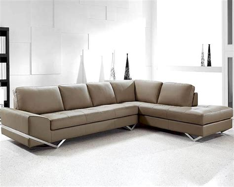 New Sectional Sofa Modern Latte Leather Sectional Sofa Set 44l0744s