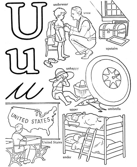 coloring pages for u letter u coloring pages coloring home