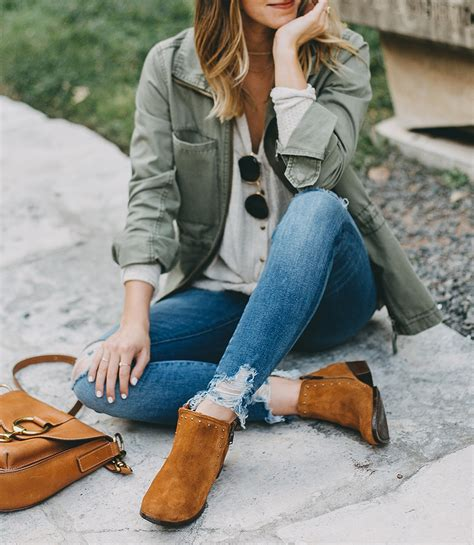 tan suede ankle booties livvyland austin fashion