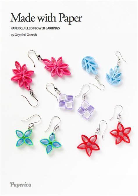 paper quilled flower earrings tutorial diy paper quilling jewelry tutorial paper quilled flower