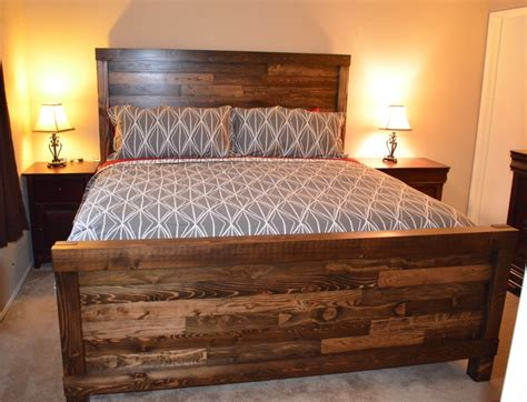 handmade king size farmhouse bed home bedroom bed bed