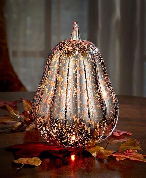 led lighted color changing pumpkin thanksgiving table