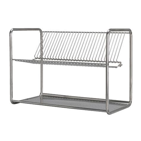 ikea kitchen dish drainer drying rack stainless steel new