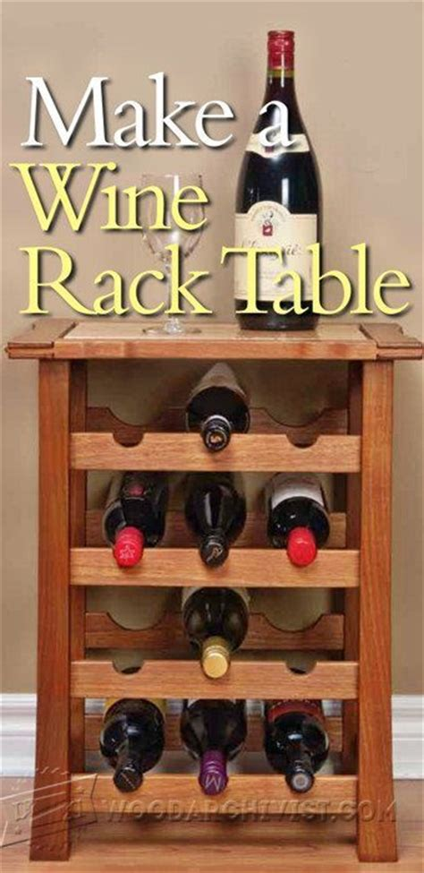 Wine Rack Table Plans by Wine Server Plans Woodarchivist