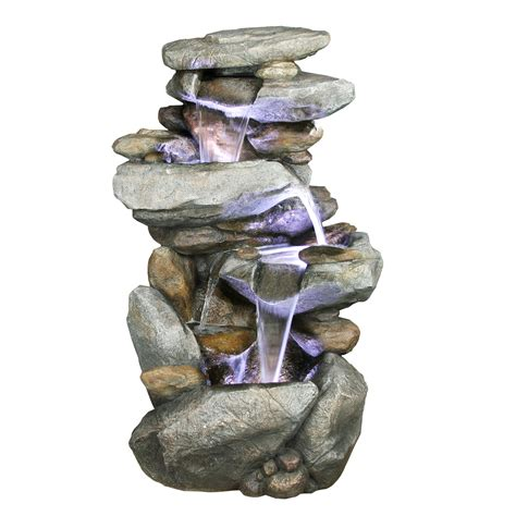 alpine indoor outdoor cascading rock waterfall fountain