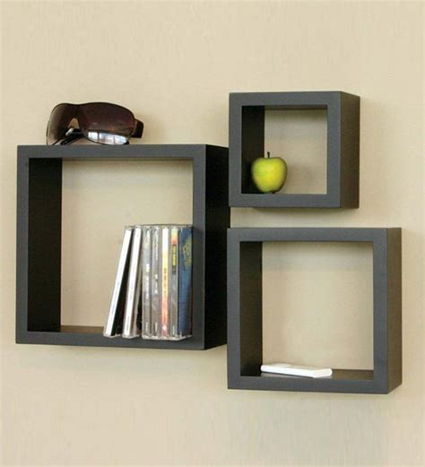 Wall Shelf Cubes by Home Sparkle Wooden Cube Wall Shelves Set Of 3 By Home