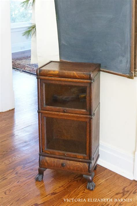 Small Barrister Bookcase mini barrister bookcase and a foster kitten update