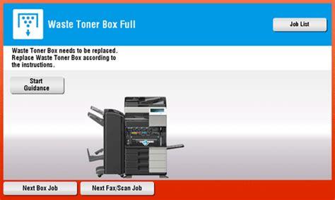 Toner Fotocopy Konica Minolta troubleshooting