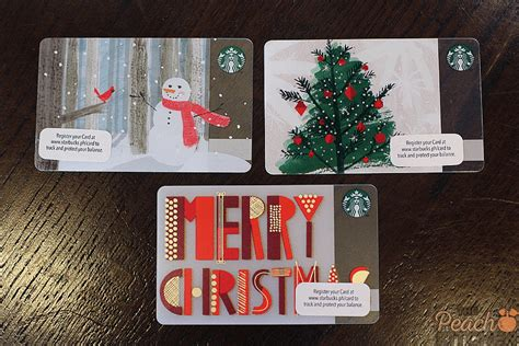 Starbucks Amount On Gift Card - christmas starbucks card 2015 the peach kitchen