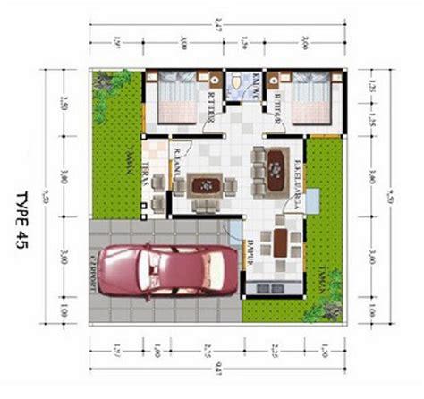 macam macam denah rumah minimalis impian type 45 terbaru