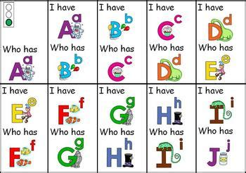 i who has cards template i who has alphabet cards by donna whyte tpt
