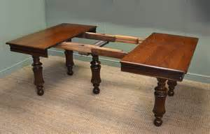 rich solid oak antique extending dining table