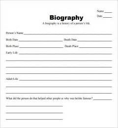 Biography Templates biography template 10 documents in pdf
