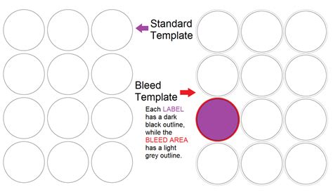 Template Not Bleed Designing A Label Template When How To Use A Bleed