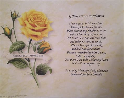 Wedding Anniversary Of Deceased Spouse by Memorial Poems For Husband Images
