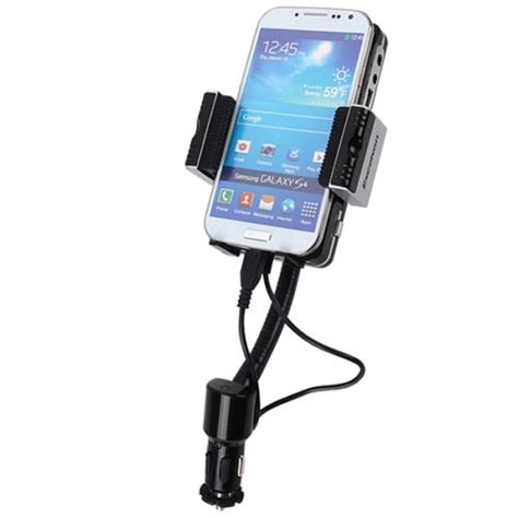 Car Fm Transmitters Or Smartphone Fm27 fm transmitter with holder and car charger micro usb for smartphone black jakartanotebook
