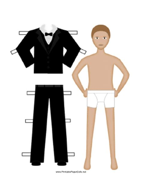 How To Make A Tuxedo Out Of Paper - black tuxedo paper doll