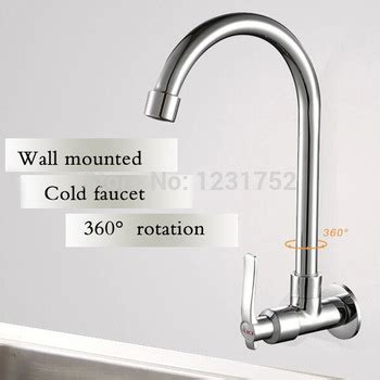 single handle wall mounted cold only kitchen faucet wall mounted kitchen faucet single handle besto blog