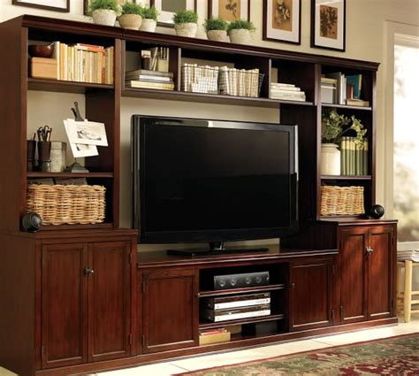 Pottery Barn Media Center logan media system with bridge pottery barn