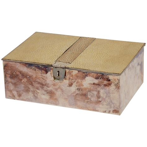 decorative boxes shagreen and silver box at 1stdibs