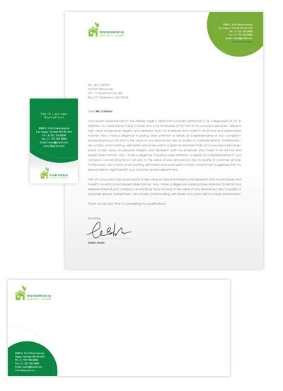 environmental protection business card letterhead