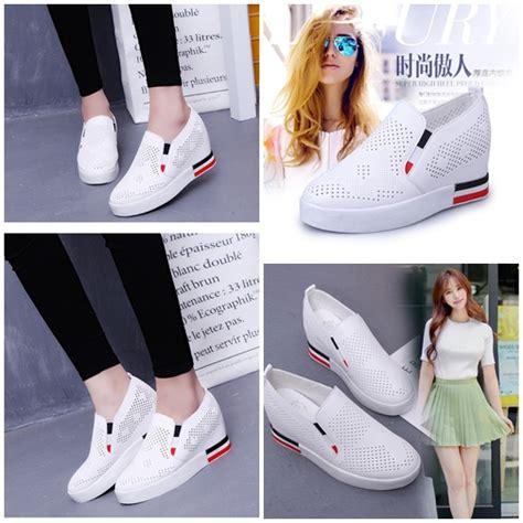 Sale All Fashion Idr 25 000 jual shs802 white sepatu sport fashion wanita grosirimpor