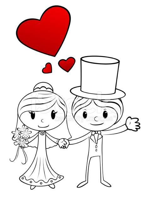 braut comic cartoon wedding couple stock vector freeimages