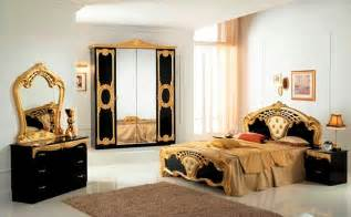 Black And Gold Bedroom Furniture High Gloss Black Gold Italian Bedroom Furniture Homegenies