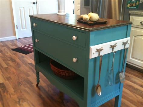 dresser kitchen island repurposed upcycled dresser made into charming turquoise aqua