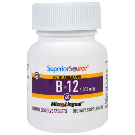 Methylcobalamin Also Search For Superior Source Methylcobalamin B 12 1000 Mcg 60