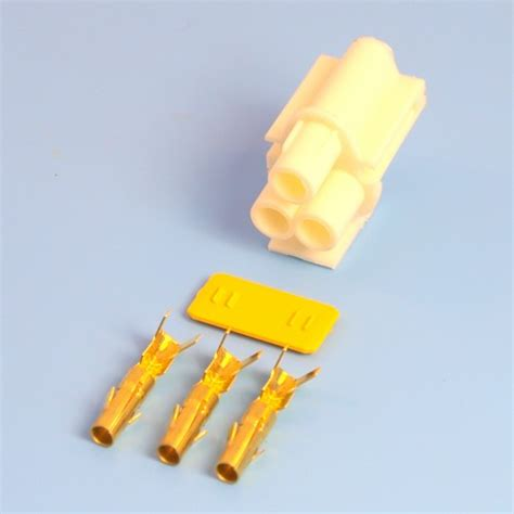 3 way white receptacle housing kit